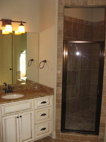 Master Bath Granite Counter Tops and Tile Shower